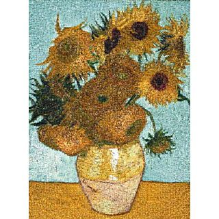 Vase With Twelves Sunflowers
