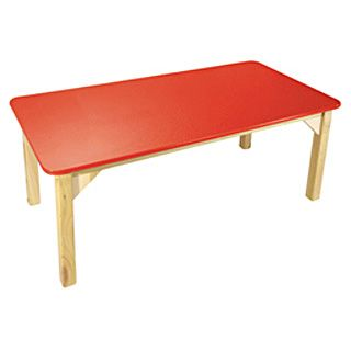 Mesa Rectangular Rojo